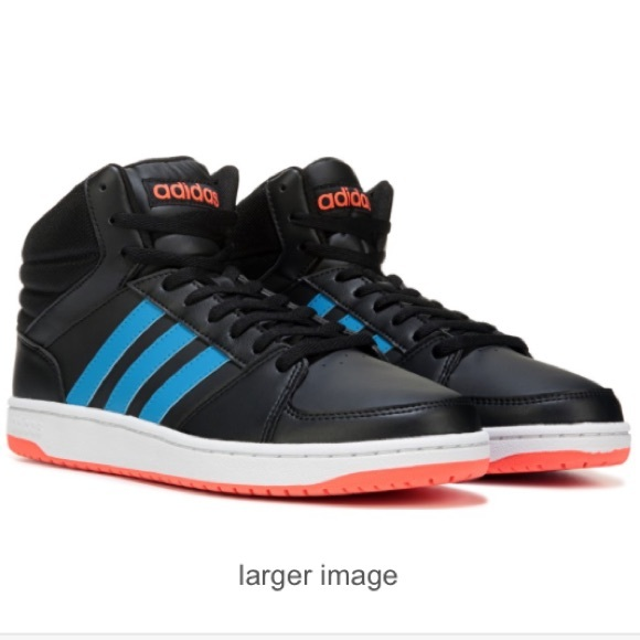 new product b5dc4 420ec adidas Other - Adidas neo vs hoops black leather mid top 9